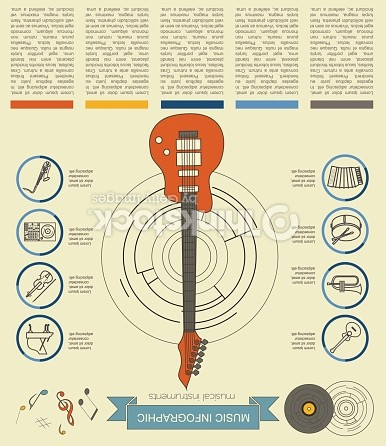 Musical Instruments Infographic Template